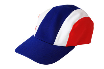 Cap hat with Thai flag pattern isolated on white