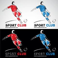 football footballeur socker joueur de foot club logo sport