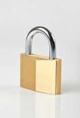 Single Locked Padlock