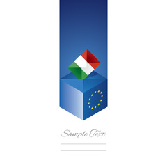 EU elections in Italy vector
