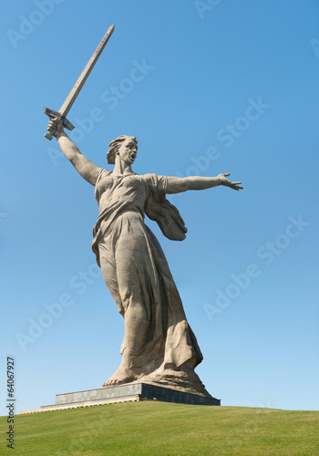 The monument of Motherland Calls in Mamayev Kurgan memorial