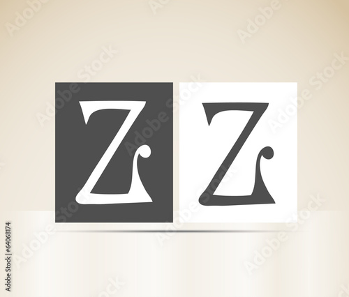 Vector letter Z art deco alphabet