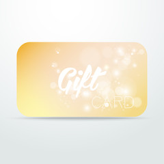 Gift card with blurred background and shine
