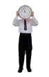 Businessman Holding Clock (with clipping path)