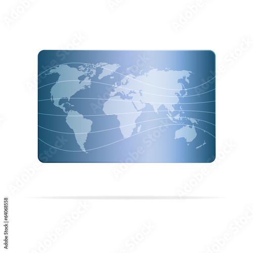 Abstract card design background with world map