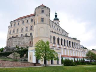 view of old castle in Mikulov,  Moravia, Czech Republic, Europe
