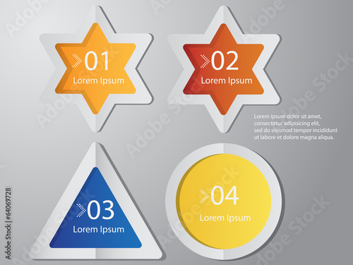 Star,Triangle,Circle label shape vector illustration