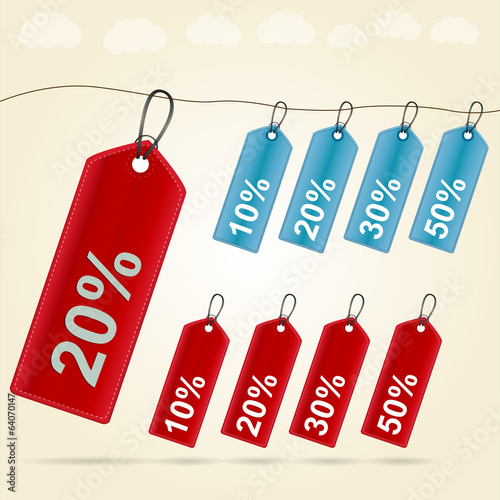 Illustration of price tags