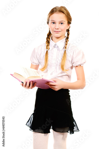 schoolgirl with book
