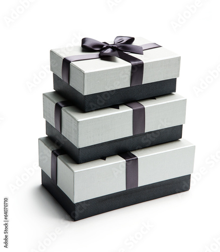 Three giftboxes