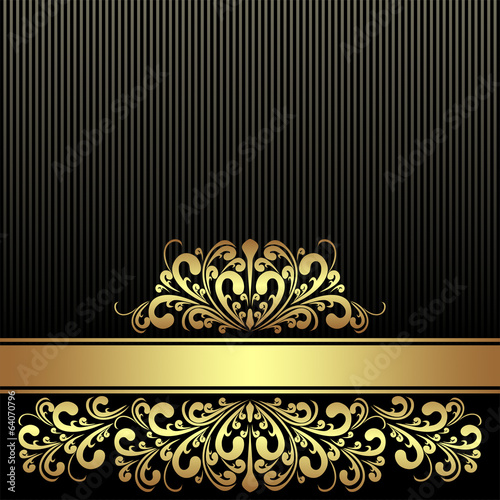 Rich black Background  decorated the golden royal Border.