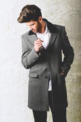Handsome man wearing coat