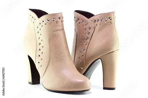 Beige boots for women