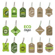 Eco organic label tags big set. - 64071564