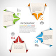 Origami infographics template