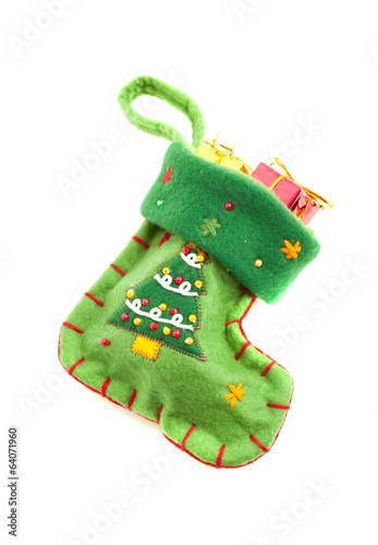 Green Christmas sock