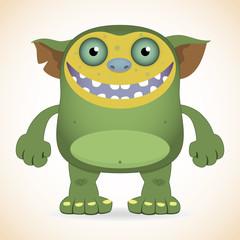 Smiling green monster