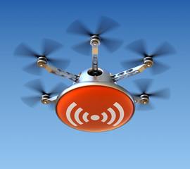 Drone with wireless internet