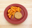 Veggie burger with carrot diet meal