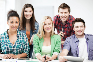 group of students at school