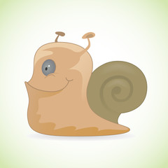 Happy smiling snail