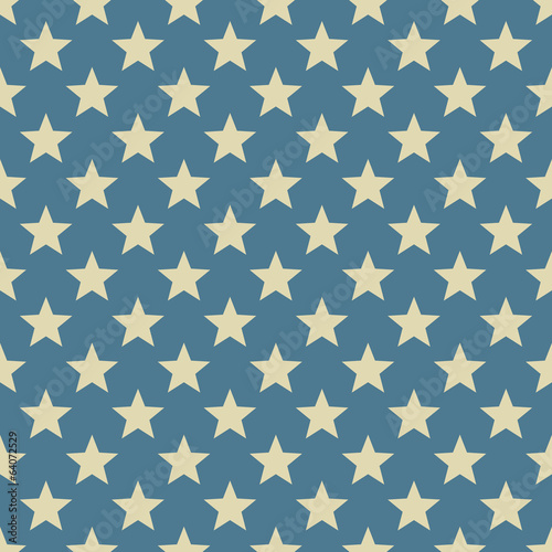 Staande foto Kunstmatig Vintage white and blue star vector pattern.