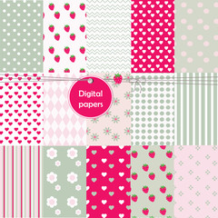 Seamless pattern background - decorative digital papers.