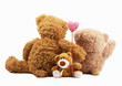 Family of teddy bears holding in one's arms