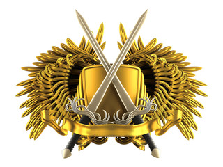 coat of arm with sword