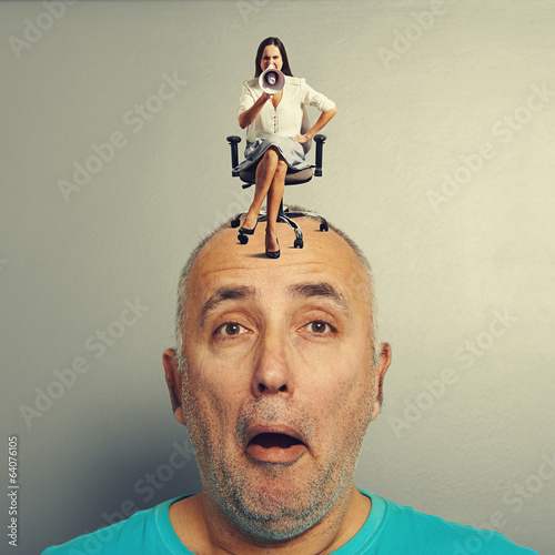 man with small displeased woman