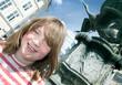 Fountain copenhagen Denmark stroget child