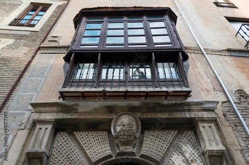 Exterior of historic Moorish house in Albaicin, Granada