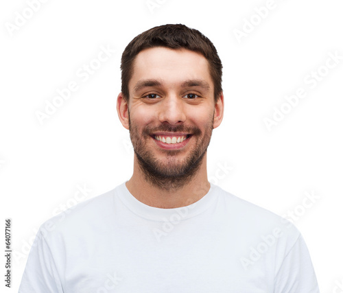 portrait of smiling young handsome man