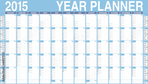 Vector Calendar for 2015. Week starts on Sunday
