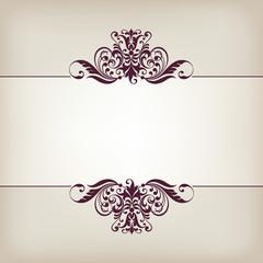 vintage border frame decorative ornate calligraphy vector