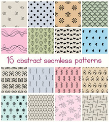 Different Shapes Seamless Patterns
