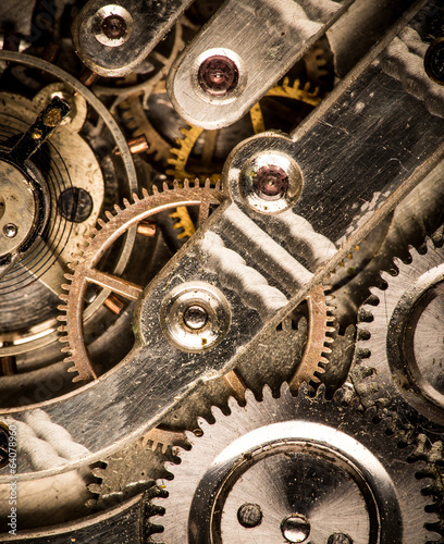 Old clock's gears