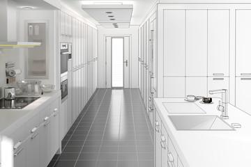 Küchentrakt (Entwurf)