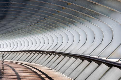 Plexiglas Brug curve shapes in bridge