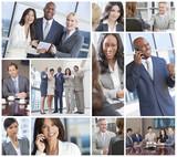 Interracial Business Men & Women Working Team