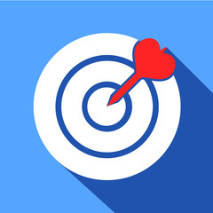 Dart in the dartboard center icon
