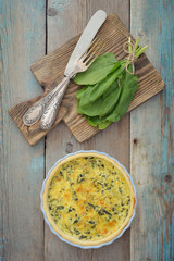 Traditional french quiche pie