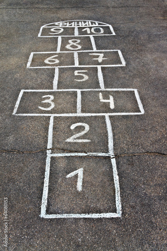 Cells for game hopscotch