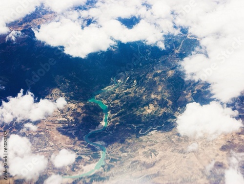 Airplane view river