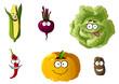 Corn, pepper, pumpkin, cabbage and potato
