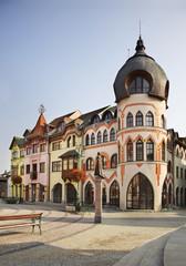 Europe Square in Komarno. Slovakia