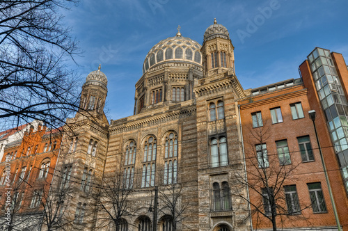 canvas print picture The Neue Synagoge at Berlin, Germany