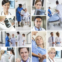 Medical Montage Patients Doctors & Nurses Hospital
