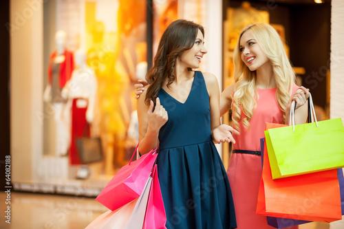 Enjoying shopping.