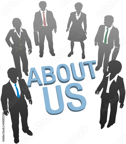 About Us company website people icon